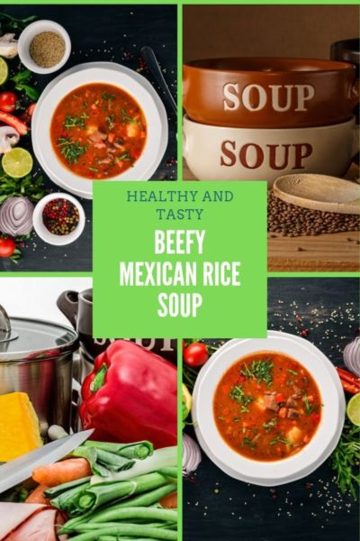 beefy mexican rice soup