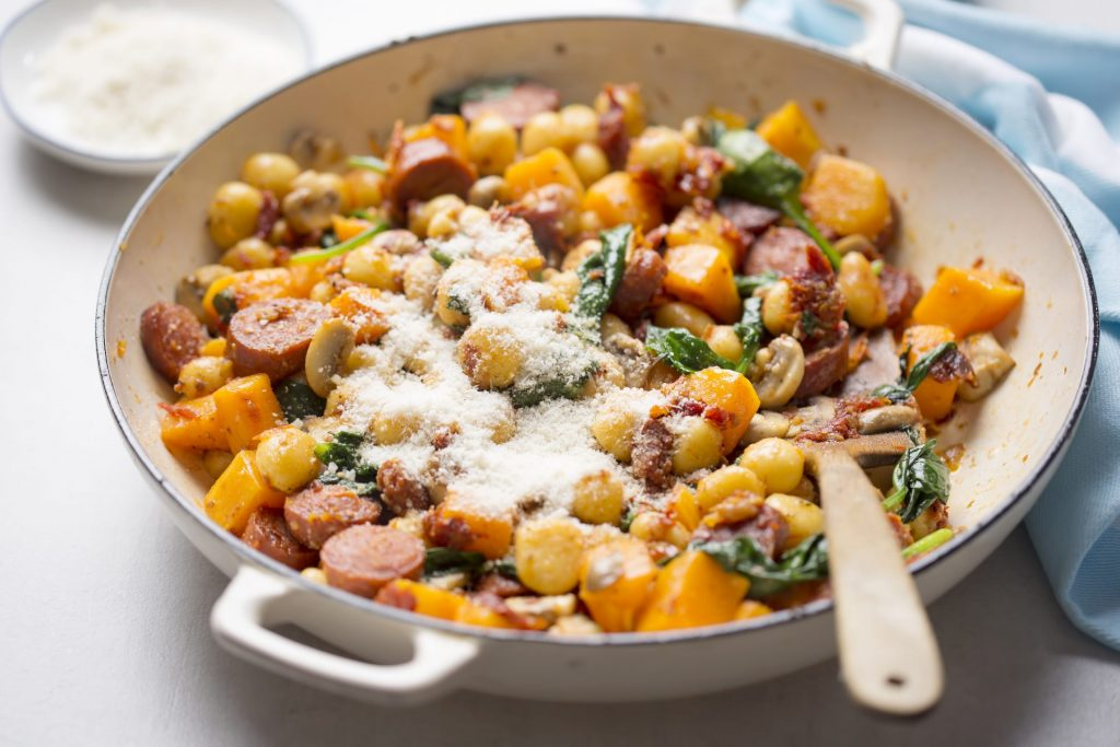 Italian Sausage Butternut Squash Gnocchi recipe