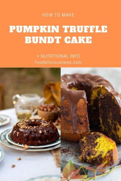 pumpkin truffle bundt cake
