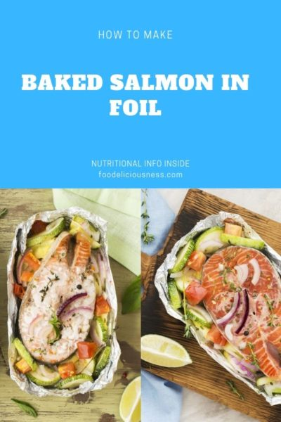 baked salmon in foil pin