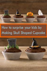 skull shaped cupcake