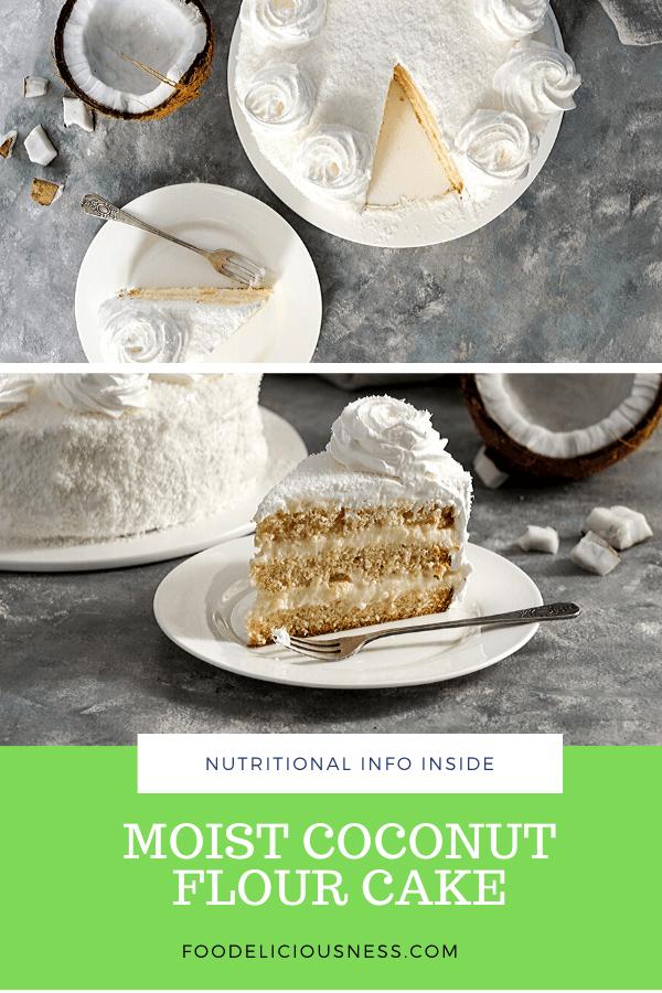 moist coconut flour cake pin