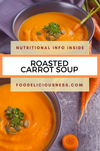 roasted carrot soup pin