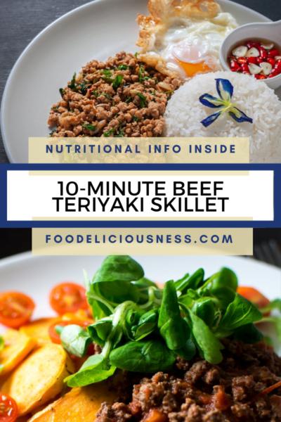 10 MINUTE BEEF TERIYAKI SKILLET pin