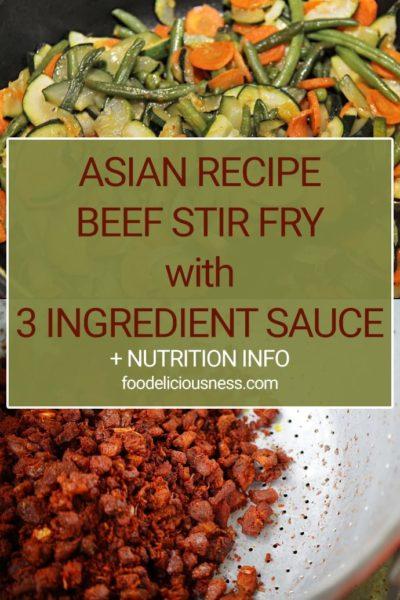 Asian Beef Stir Fry Recipe Pin