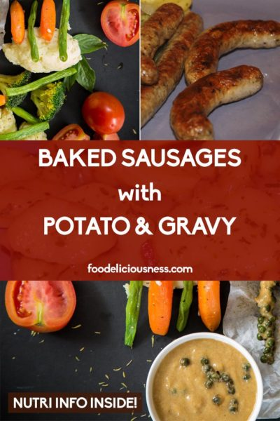 Baked Sausages With Potato Gravy Pins