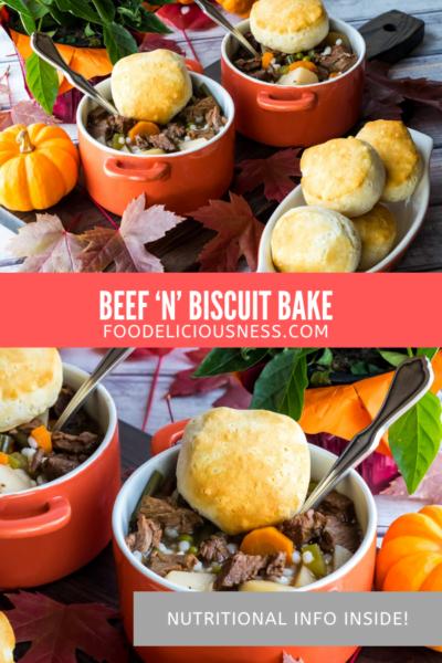 Beef 'n' Biscuit Bake pin