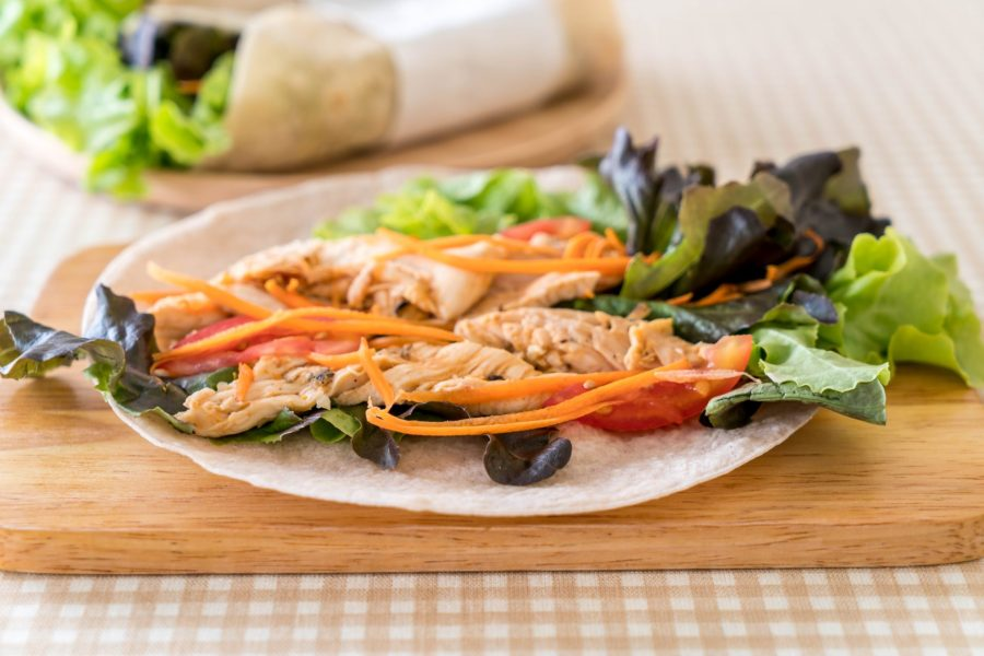 Collard Green Chicken Salad Wraps 2