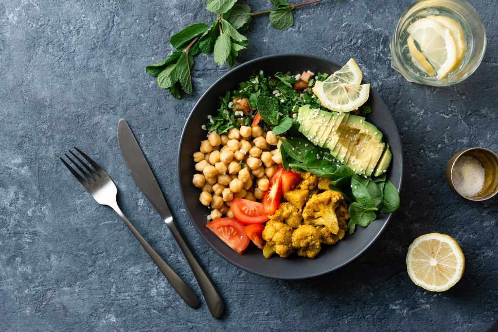 Curried Chickpea Bowls with Garlicky Spinach 2