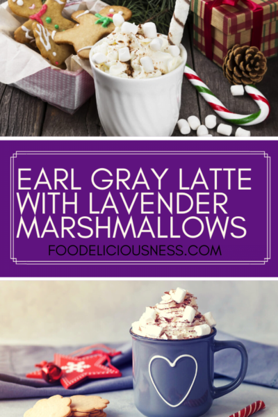 Earl Gray Latte with Lavender Marshmallows pin