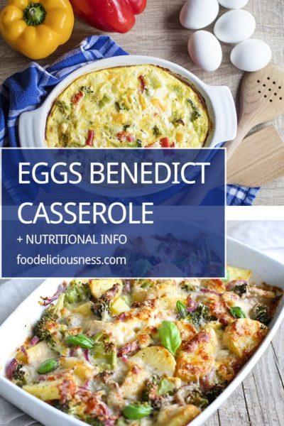 Eggs Benedict Casserole Pin