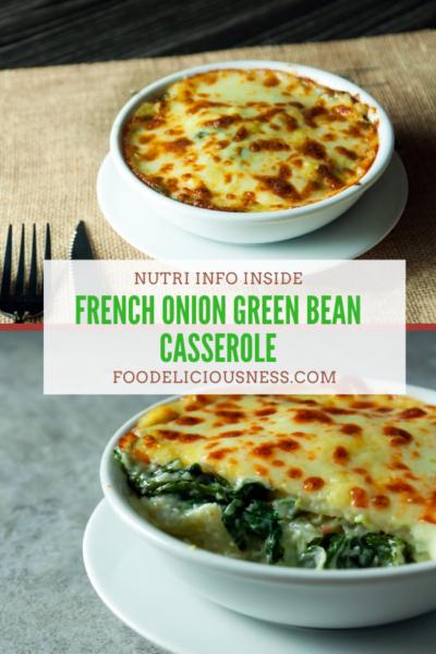 French Onion Green Bean Casserole pin