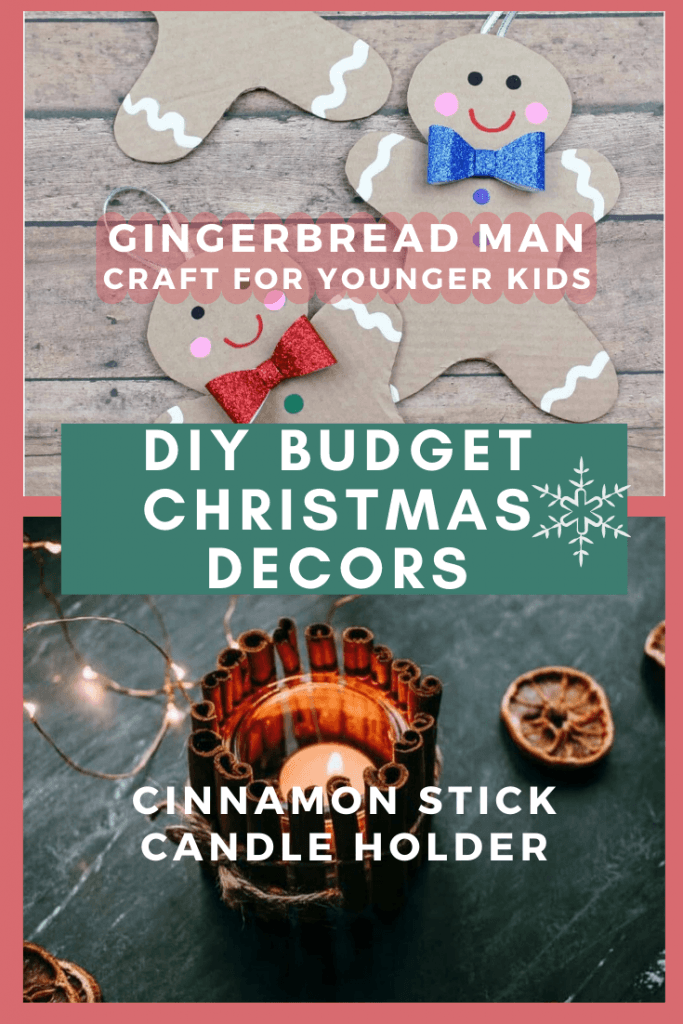Gingerbread Man and Cinnamon Stick Candle holder