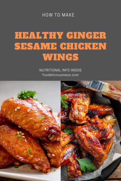 Healthy Ginger Sesame Chicken Wings pin