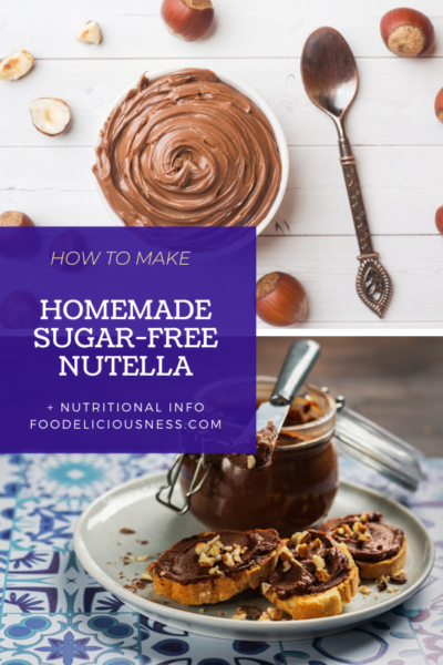 Homemade Sugar Free Nutella pin
