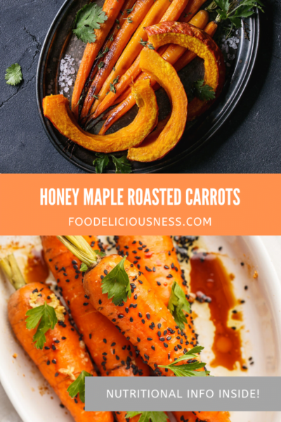 Honey Maple Roasted Carrots pin