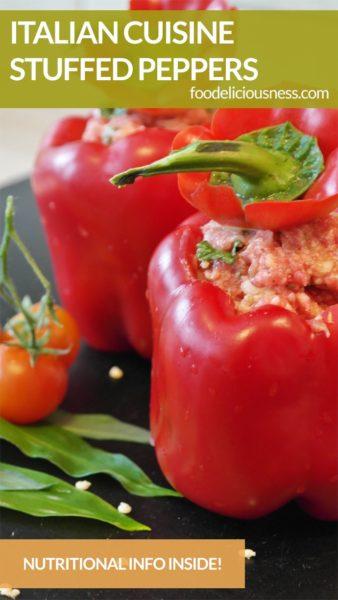 Italian Cuisine Stuffed Peppers