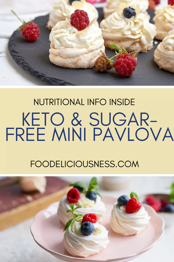 Keto Sugar Free Mini Pavlova
