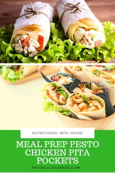 Meal Prep Pesto Chicken Pita Pockets