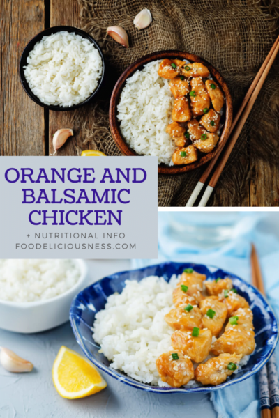 Orange and Balsamic Chicken pin