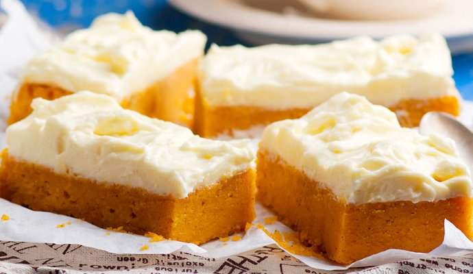 Pumpkin Cake With Cheese Cream Frosting 1