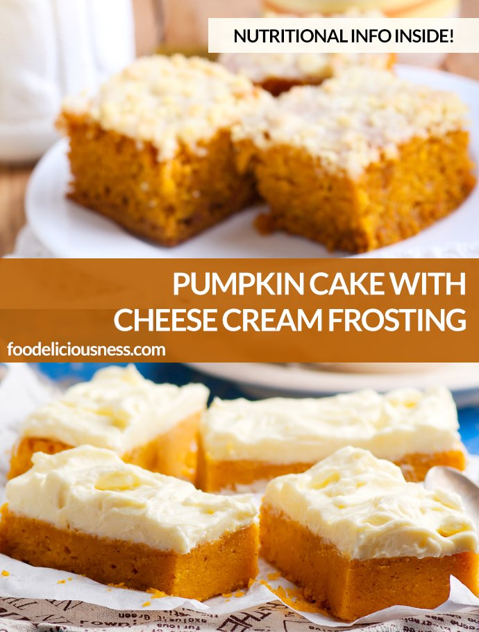 Pumpkin Cake With Cheese Cream Frosting Pin