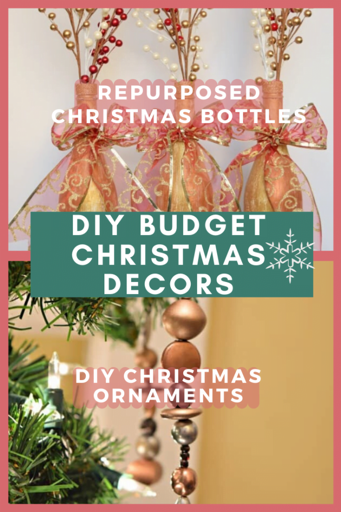 Repurposed Christmas Bottles and DIY Christmas Ornaments