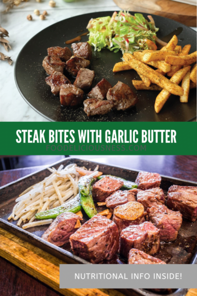 STEAK BITES WITH GARLIC BUTTER pin