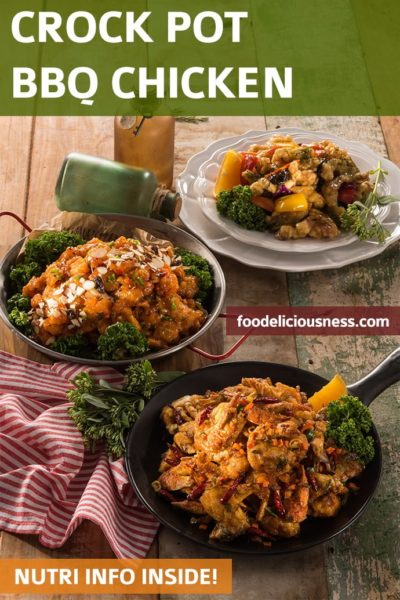 Slow Cooked Crock Pot BBQ Chicken Recipe Pin
