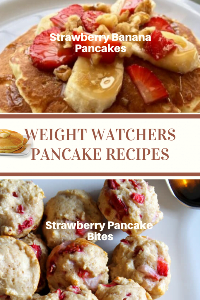 Strawberry Banana and Straberry Pancake bites