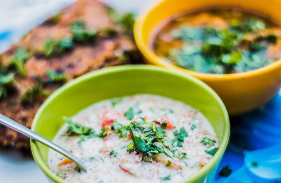 Vegetarian Dish Thai Peanut Chickpea Curry