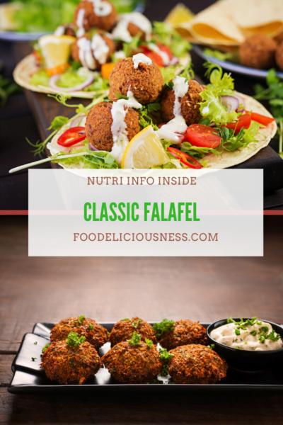 classic falafel pin