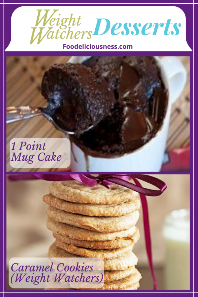 1 point mug cake and caramel cookies