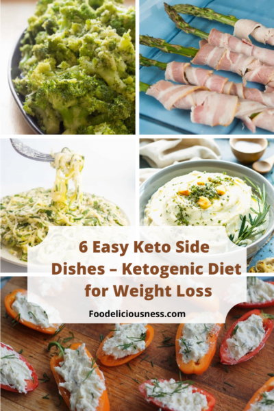 The Ketogenic Diet is popular because it allows for relatively quick weight loss, where fat deposits melt. If you have ever considered trying this diet, check out these 6 easy recipes. #ketodinnerrecipes #ketogenicdiet #ketosidediches #ketomeal @foodeliciousness