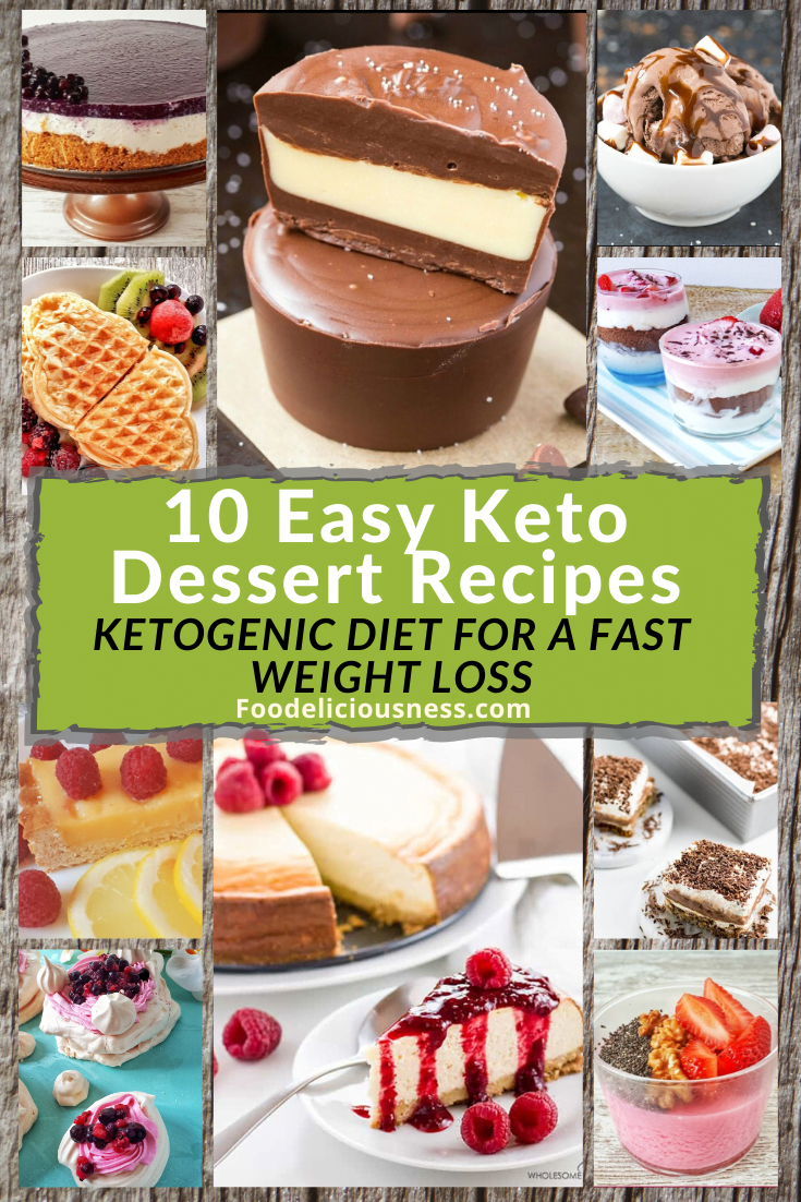 You\'ve done well on your diet and you\'d like to get yourself some treats. Sweet treats!. But, of course, you don\'t want to lose all those hard-earned weight losses and a healthier body. You will not be disappointed as we have these easy keto dessert recipes that you will surely love. See them below. And don\'t forget to pin them onto your Pinterest board. #Ketogenicdiet #Ketodessert #ketorecipes #Low-carb desserts @Foodeliciousness