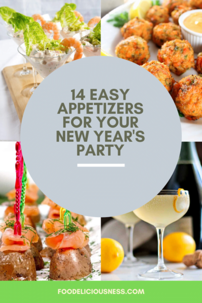 You are throwing a party and you need a selection of make ahead and delicious appetizers. Appetizers are important because they set the stage for a meal. That\'s why we are bringing you 14 appetizers that are going to be a hit at your New Year's Eve party! #CrowdPleasingPartyAppetizers  #easyholidaypartyappetizers #makeaheadpartyappetizers @foodeliciousness