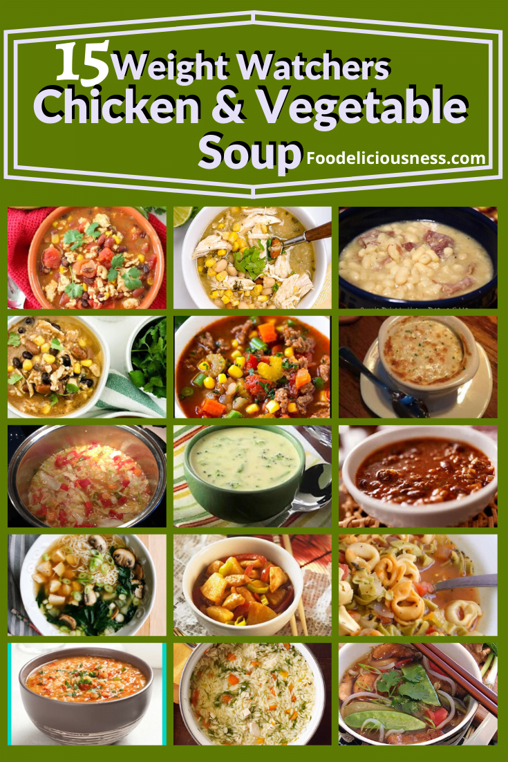 NOURISHING SOUPS are usually served warm or hot but some people like them cold too. For those watching their diet, here we have 15 amazing Weight Watchers Chicken and Vegetable Soups / Freestyle Soups, healthy, easy to prepare that fits your lifestyle. #WeightWatchers #Weightwatchersrecipe #Weightwatcherssoup #healthysoups #dietsoups @foodeliciousness