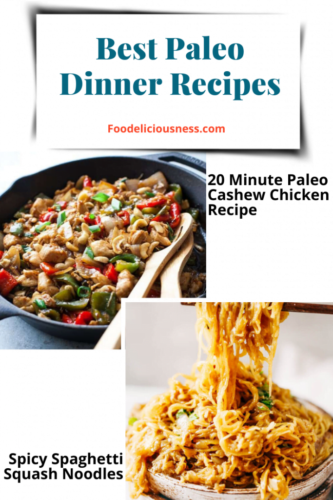 20 Minute Paleo Cashew Chicken Recipe and Spicy Spaghetti Squash Noodles