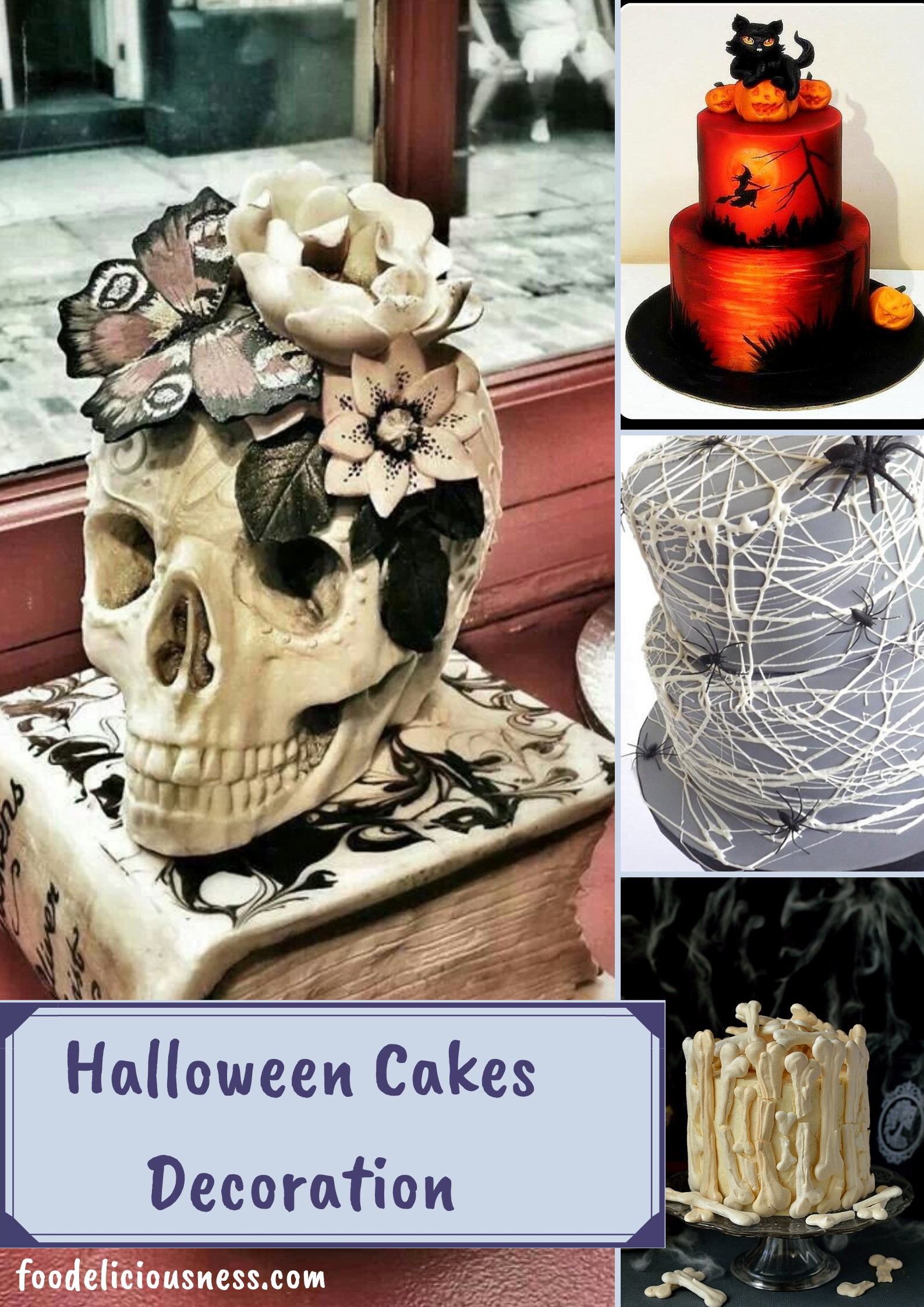 In this list, you will found 10 easy decorating ideas, which you can use for Halloween or even for kids\' birthday. Simply with spiders, witches, skeletons, castles or clouds, you can never go wrong. #halloweencakesdecorationeasy #halloweencakesdecorationbirthday #halloweencakesdecorationkids  @foodeliciousness
