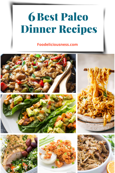 A PALEO DIET is a dietary plan based on foods similar to what might have been eaten during the Paleolithic era, hence the reason it is also called Caveman Diet or Stone Age Diet which is basically high protein high fiber eating plan. Here are 6 best Paleo dinner recipes that you will surely love. #Paleodiet #paleorecipes #paleodinnerrecipes @Foodeliciousness