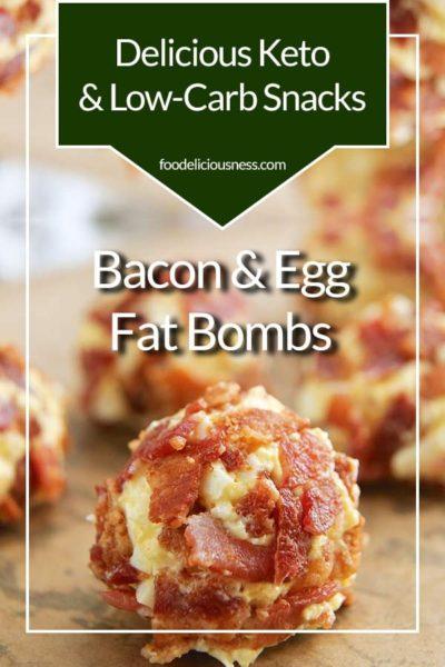Bacon Egg Fat Bomb Pin