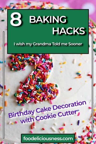 Birthday Cake Decoration with Cookie Cutter