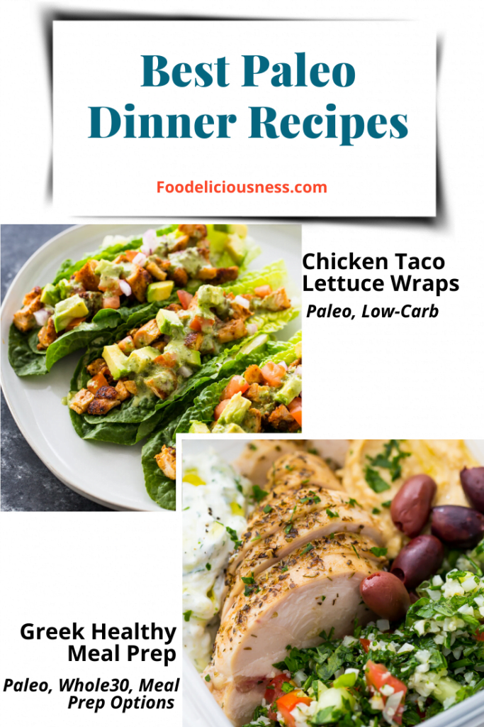 Chicken Taco Lettuce Wraps and Greek Healthy Meal Prep