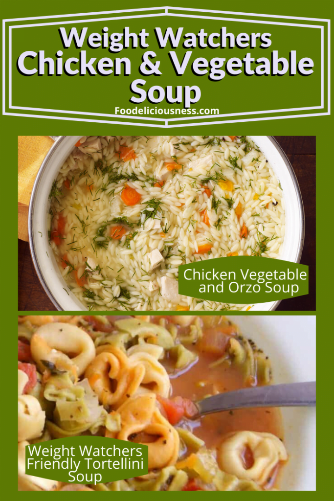Chicken vegetables and orzo soup and weigth watchers Friendly Tortellini Soup