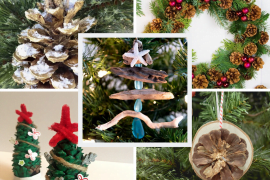Christmas Decorations Made from natural materials