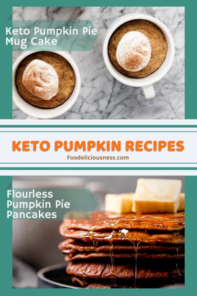 Keto Pumpkin Pie Mug Cake Flourless Pumpkin Spice Pancakes