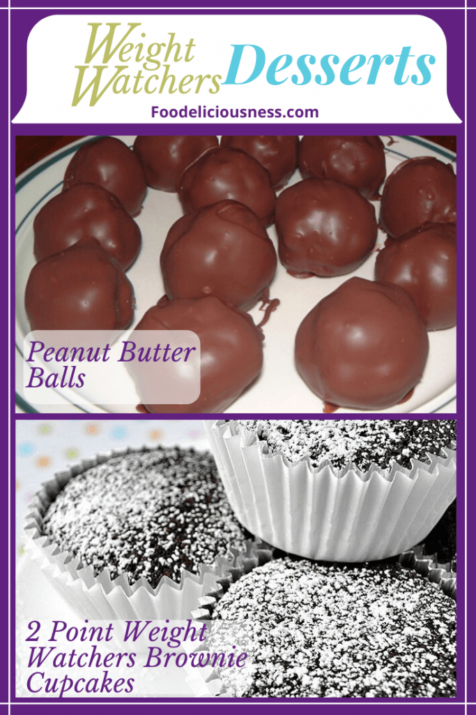 Peanut buttere balls and 2 point weight watchers brownie cupcakes