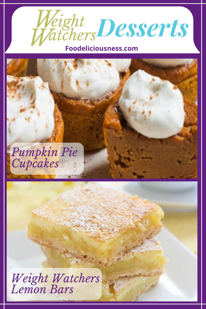 Pumpkin Pie Cupcake and Weight Watchers Lemon Bars