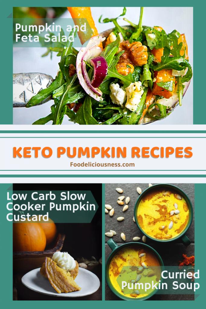 Pumpkin and Feeta Salad Low Carb Slow Cooker Pumpkin Custard Curried Pumpkin Soup