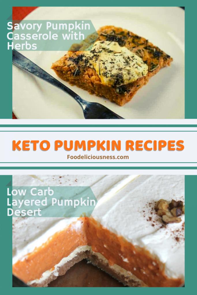 Savory Pumpkin Casserole Recipe with herbs Low Carb Layered Pumpkin Desert